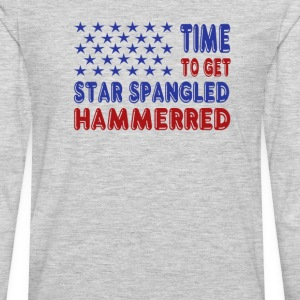 Time to Get Star Spangled Hammerred - Men's Premium Long Sleeve T-Shirt