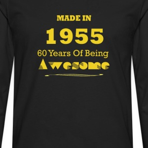 Made in 1955 - 60 Years of Being Awesome - Men's Premium Long Sleeve T-Shirt