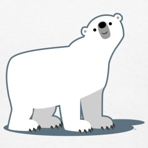 Cute Curious Polar Bear by Cheerful Madness!! Mugs & Drinkware - Men's T-Shirt