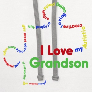 I love my autistic grandson  - Contrast Hoodie