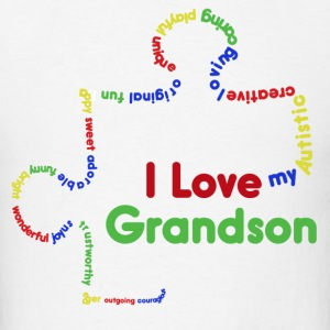 I love my autistic grandson  - Men's T-Shirt