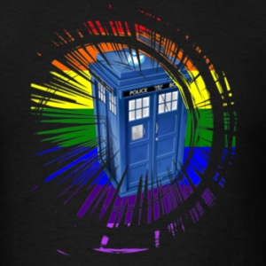 rainbow tardis sweatshirt - Men's T-Shirt