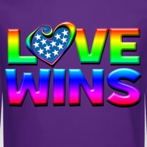 Love Wins Gay Marriage Equality T-Shirts - Crewneck Sweatshirt