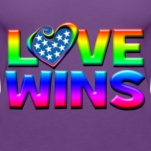 Love Wins Gay Marriage Equality T-Shirts - Women's Premium Tank Top