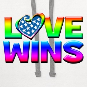 Love Wins Gay Marriage Equality T-Shirts - Contrast Hoodie