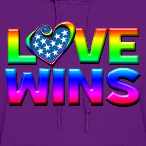 Love Wins Gay Marriage Equality Kids' Shirts - Women's Hoodie