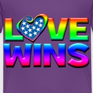 Love Wins Gay Marriage Equality Kids' Shirts - Toddler Premium T-Shirt