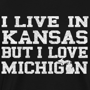 Live Kansas Love Michigan Pride MItten Hoodies - Men's Premium T-Shirt