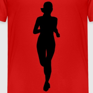 running woman Kids' Shirts - Toddler Premium T-Shirt