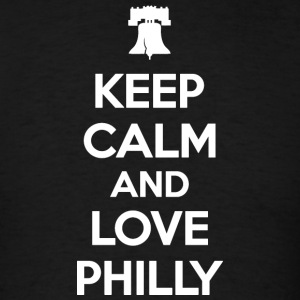 Keep Calm and Love Philly Hoodies - Men's T-Shirt