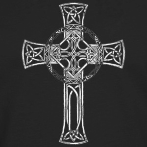 Classic Distressed Irish Gaelic Celtic Cross Women's T-Shirts - Men's Premium Long Sleeve T-Shirt