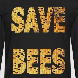 SAVE BEES DESIGN - Men's Premium Long Sleeve T-Shirt