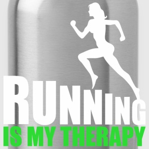 Running Is My Therapy - Water Bottle