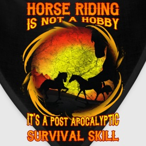 Horse riding T-shirt - Horse riding is not a hobby - Bandana