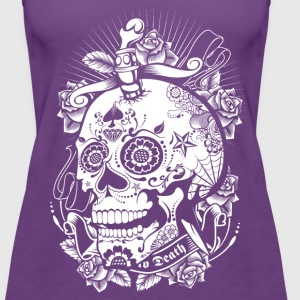Sugar Skull of Death Women's T-Shirts - Women's Premium Tank Top