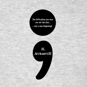 Semicolon:  LIVE...that is the Secret to LIFE! Tank Tops - Men's T-Shirt