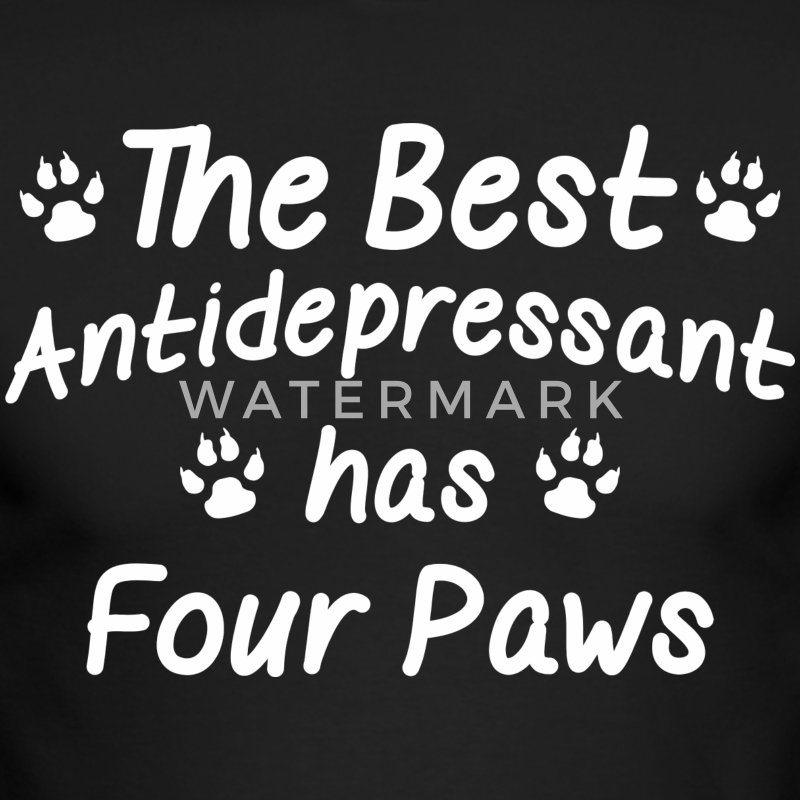 The Best Antidepressant Has Four Paws - Men's Long Sleeve T-Shirt by Next Level