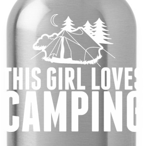 This Girl Loves Camping - Water Bottle
