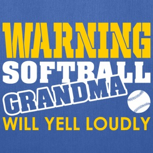 Warning Softball Mom Will Yell Loudly - Tote Bag