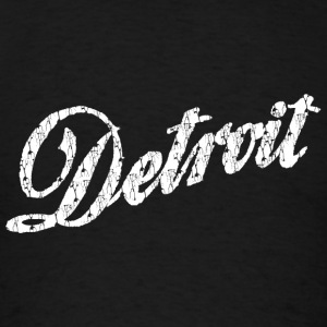 Old Vintage Detroit Retro Script Hoodies - Men's T-Shirt