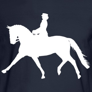 Dressage Horse - white Hoodies - Men's Long Sleeve T-Shirt