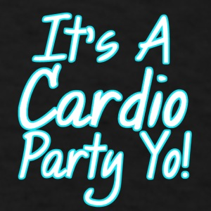 Cardio Party- Turquoise Mugs & Drinkware - Men's T-Shirt