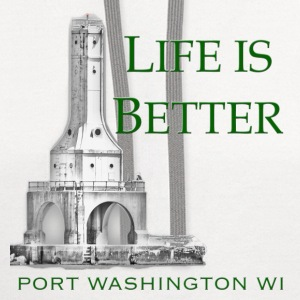 Life is Better Port Washington WI - Contrast Hoodie