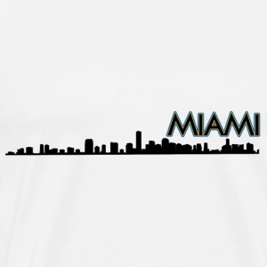 Miami Skyline Silhouette Tanks - Men's Premium T-Shirt
