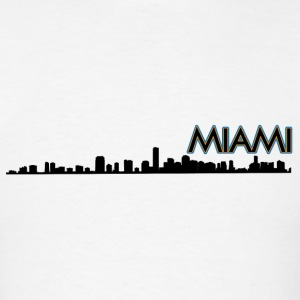 Miami Skyline Silhouette Tank Tops - Men's T-Shirt