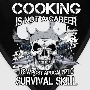 Chef T-shirt - Cooking is not a career - Bandana