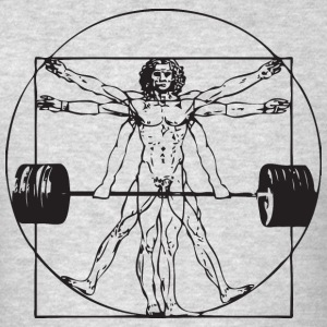 Vitruvian Barbell Man Tank Tops - Men's T-Shirt