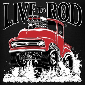 LIVE TO ROD 1956 F100 Gasser HOODIE - Men's T-Shirt