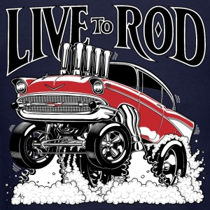 LIVE TO ROD 1957 Gasser Zip Hoodie - Men's T-Shirt