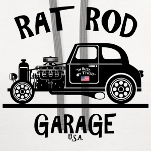 RAT ROD Garage, USA! T-Shirts - Contrast Hoodie