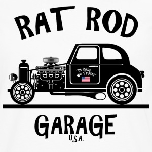 RAT ROD Garage, USA! T-Shirts - Men's Premium Long Sleeve T-Shirt