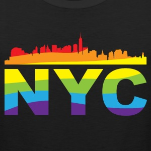 NYC Pride Skyline LGBT Women's T-Shirts - Men's Premium Tank