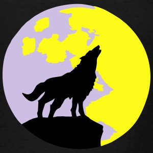 Wolf & Full Moon Hoodies - Men's T-Shirt