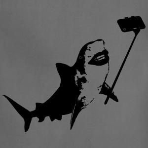 Shark Selfie Stick Women's T-Shirts - Adjustable Apron