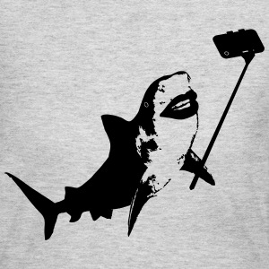 Shark Selfie Stick Women's T-Shirts - Women's Long Sleeve Jersey T-Shirt