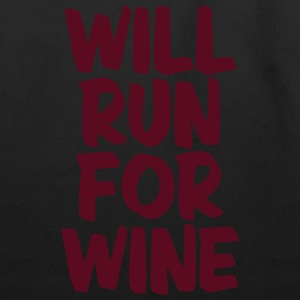 WILL RUN FOR WINE Kids' Shirts - Eco-Friendly Cotton Tote