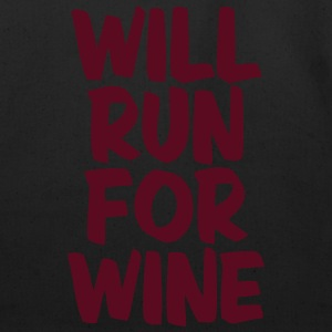 WILL RUN FOR WINE T-Shirts - Eco-Friendly Cotton Tote