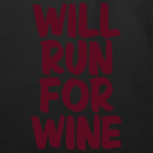 WILL RUN FOR WINE Hoodies - Eco-Friendly Cotton Tote