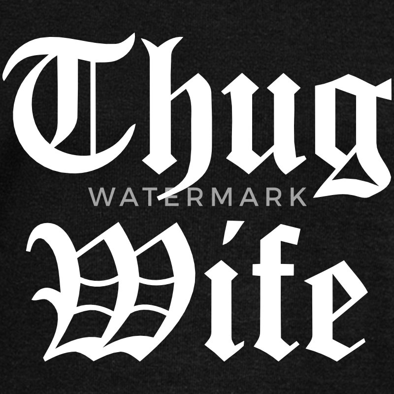 THUG WIFE Long Sleeve Shirts - Women's Wideneck Sweatshirt