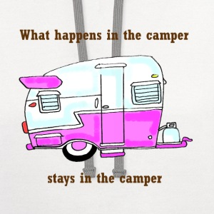 what happens in the camper.... - Contrast Hoodie