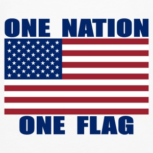 ONE NATION ONE FLAG Mousepad - Men's Premium Long Sleeve T-Shirt
