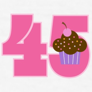 45th Birthday Cupcake Mugs & Drinkware - Men's T-Shirt