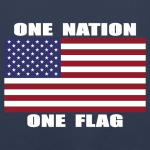 One Nation One Flag US Flag Hoodie - Men's Premium Tank