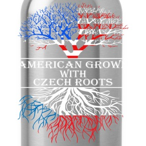 American Grown With Czech Roots - Water Bottle