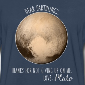 Pluto | Dear Earthlings - Men's Premium Long Sleeve T-Shirt