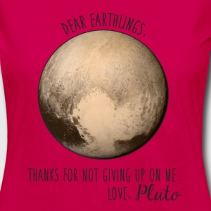 Pluto | Dear Earthlings - Women's Premium Long Sleeve T-Shirt